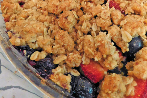 A Sweet Ending:  Summer Berry Crisp