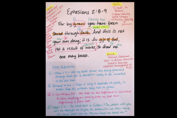 My Grace-Full Life:  Verse Mapping