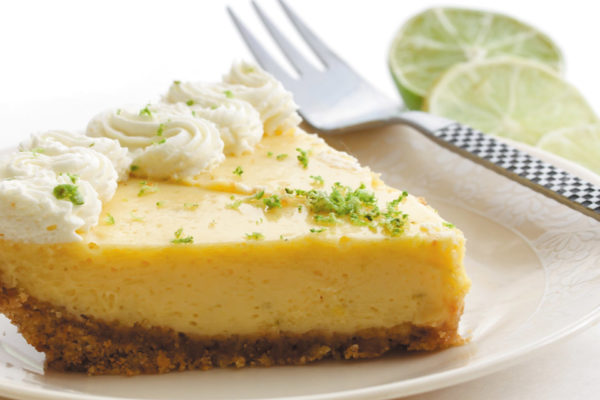 A Sweet Ending:  Key Lime Pie with Whipped Cream and Graham Cracker Crust