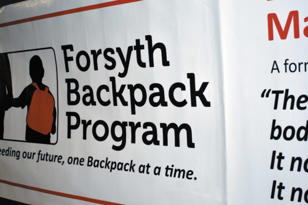 Helping the Community  Forsyth Country Day School Event—The Forsyth Backpack Program