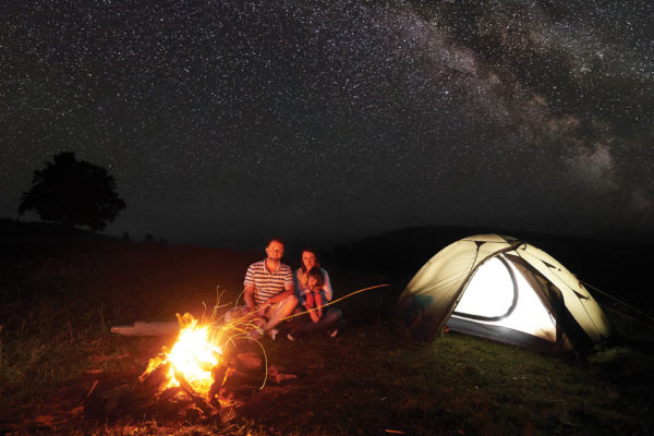 Fire, Tent, and Stars