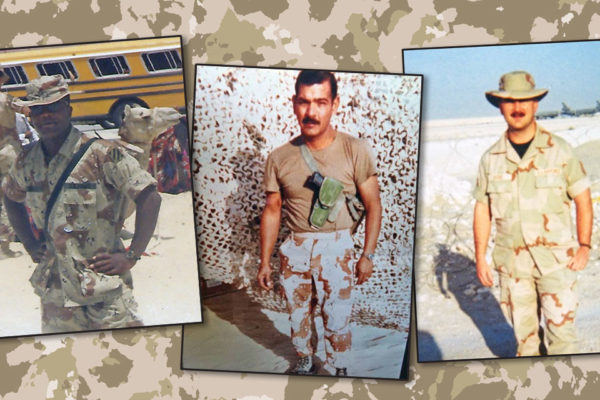 Three Veterans:  Airman, Marine, and Soldier