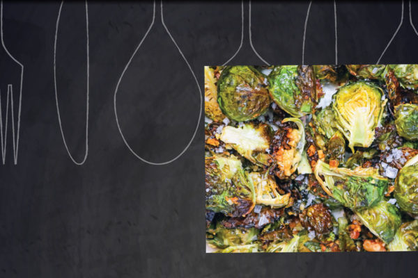 Crispy Baked Garlic & Parmesan Brussel Sprouts