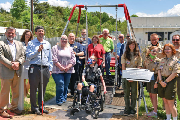 Giving the Joy of a Swing Set to Children in Wheelchairs